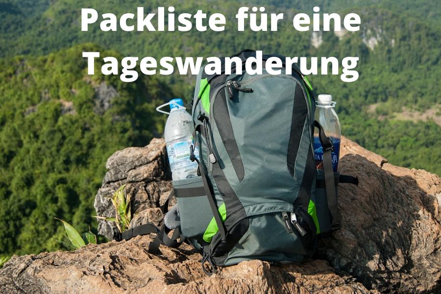 Packliste für eine Tageswanderungen (1)